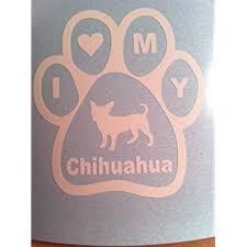 Amazon Com Epic Designs I Love My Chihuahua Vinyl Decal Sticker Dog Cute Automotive
