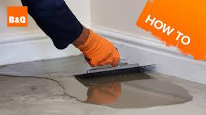 how to level a concrete floor part 1
