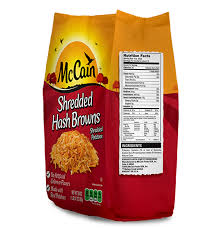 shredded hash browns