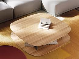 square wooden coffee table bita by