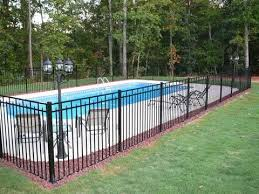 Galvanized Iron Railing Iron Fence Panels Swimming Pool Raiing Inground Pool Landscaping Backyard Pool Pool Landscaping