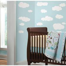 Roommates 10 In X 18 In Clouds White Bkgnd 19 Piece Peel And Stick Wall Decals Rmk1562scs The Home Depot