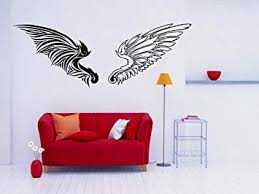 Amazon Com Wall Sticker Decals Room Decor Angel Demon Evil Wings Heaven Hell Paradise 578t Baby