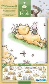 Decofun Classic Winnie The Pooh Wall Stickers Stikarounds Baby Sleep Problems Baby Nursery Themes Baby Boy Nurseries