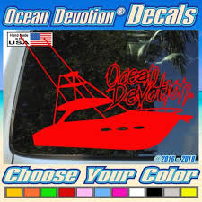 Decals Stickers Patches Sporting Goods Offshore Fishing Boat Ocean Devotion Vinyl Decal Sticker Car Window Salt Life