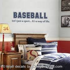 Play Ball Baseball Vinyl Wall Decal Lettering Decor Sticker Sports Kids Room