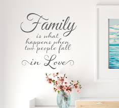 Vinyl Wall Decal Lettering Family Love Romantic Happiness Home Art Sti Wallstickers4you