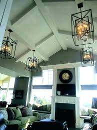 hanging lights for vaulted ceilings