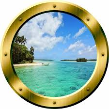 Vwaq Ocean Porthole Beach Wall Decal 3d Wall Sticker Peel And Stick Mural Tropical Wall Decals By Vwaq Vinyl Wall Art Quotes And Prints