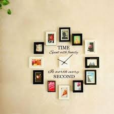 2017 Fashion Time Spent With Family Wall Art Decal Quote Wall Stickers Diy Murals Home Decor Clock Decoration Big Wall Stickers Bird Wall Decals From Jiguan 16 1 Dhgate Com