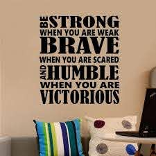 Sports Motivational Wall Decal Be Strong Be Brave Etsy In 2020 Sports Wall Decals Vinyl Wall Lettering Letter Wall