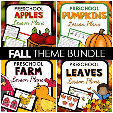 fall themes for pre lesson plans