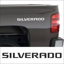 Set Of 2 Pieces Silverado Logo Vinyl Decal Sticker For Your Chevrolet Model 2