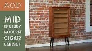 building a cigar cabinet mid century