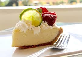 a light and velvety key lime pie