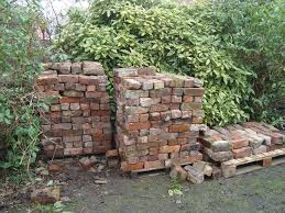 build raised beds from reclaimed bricks