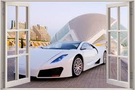 Free Download Window Exotic Sports Car View Wall Stickers Film Mural Decal Wallpaper 2000x1333 For Your Desktop Mobile Tablet Explore 49 Wall Decal Wallpaper Removable Wallpaper Decals Wallpapers For