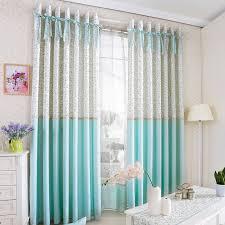 Princess Style Room Darkening Curtain For Kids Room With Bowknot Emblishment