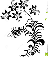 black and white flowers stock vector