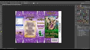Tutorial Photoshop Invitacion Cajita De Cereal Rapunzel Youtube