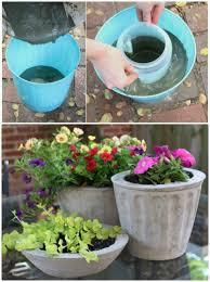 concrete pots ideas diy planters