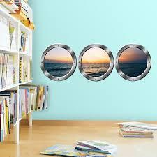 Vwaq Cruise Window Decal Ocean View Window Cling Porthole Vinyl Sti