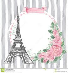 Resultado De Imagen Para Torre Eiffel Vintage Rosas Acuarela