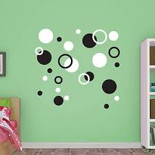 Polka Dots Black White Large Removable Wall Decals Fathead Polka Dot Wall Decals Polka Dot Decor Wall Decals