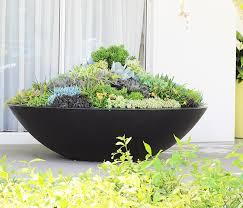 litestone giant zen planter bowl