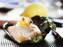 Sturgeon Wrapped in Banana Leaves ...