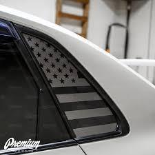 American Flag Quarter Window Decal Set 2008 2014 Subaru Wrx Sti Premium Auto Styling