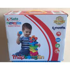 Bộ đồ chơi Tháp bóng lăn Sato cho trẻ từ 6 tháng tuổi