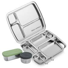 A bento typical of aluminum types boxes. These usually made of anodized aluminum and much sturdier than other bento boxes.