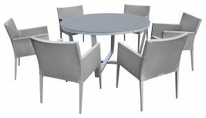 7 piece round dining table set
