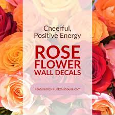 Rose Flower Wall Decals Stop And Smell Them