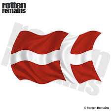 Denmark Waving Flag Decal Danish Nordic Car Truck Vinyl Sticker Lh Rotten Remains High Quality Stickers Decals