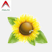 Aliauto Beautiful Car Stickers Sunflower Exterior Accessories Decor Vinyl Decal For Lacetti Skoda Volvo S60 Lifan X60 14cm 12cm Car Stickers Aliexpress
