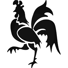 Tribal Rooster Chicken Farm Vinyl Decal Sticker