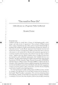 PDF) Lillie Johnson as a Public Intelllectaul | Karen Flynn ...