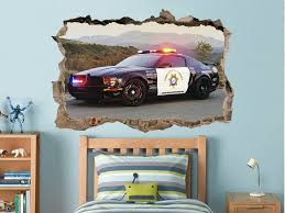 Police Car Print Police Car Decal Police Car Sticker Police Ford Muscle Car Supercar Racing Car Old Ford Car Decor Old Must Police Cars Mustang Cars Car Decals