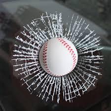 Amazon Com Ygmoner 3d Simulation Golf Baseball Break Glass Car Window Sticker Baseball Arts Crafts Sewing