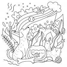 Doodle Kleurplaat Voor Volwassenen En Kinderen Premium Vector