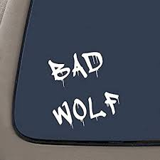 Amazon Com Ni182 Dr Who Inspired Bad Wolf Vinyl Car Decal 6 White Automotive