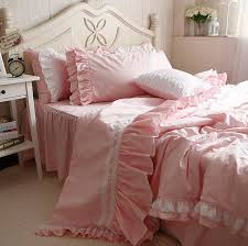 shabby girls pink bedding in vintage