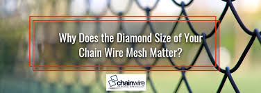 Why Does The Diamond Size Of Your Chain Wire Mesh Matter