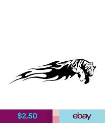 Pair Of Bengal Tiger Flames Vinyl Car Decal Fire Sticker Tribal Art Design Af32