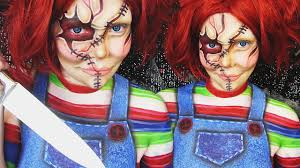 chucky halloween makeup body painting