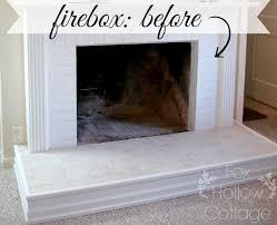 how to paint a fireplace firebox fox