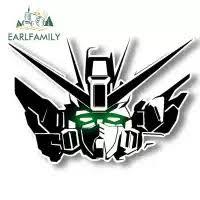 Earlfamily 13x9 8cm Gundam Pattern Anime Car Stickers Helmet Motorcycle Accessories Vinyl Jdm Decals Waterproof Cartoon Paste Lazada Ph