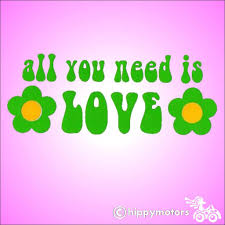 Beatles All You Need Is Love High Quality Vinyl Decal